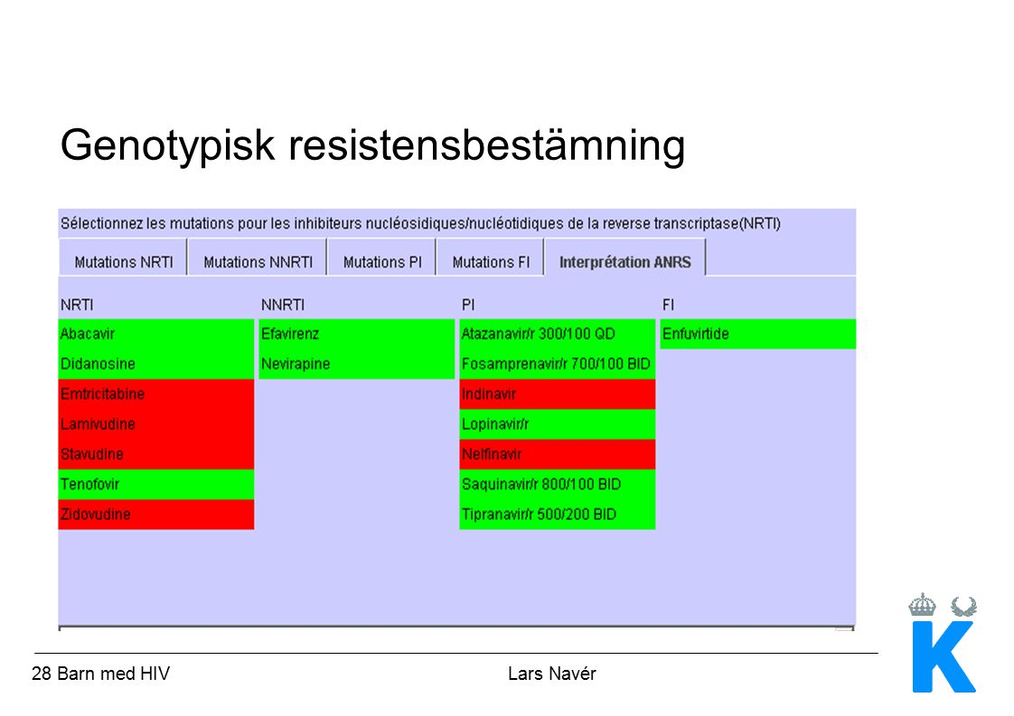Genotypisk resistensbestämning