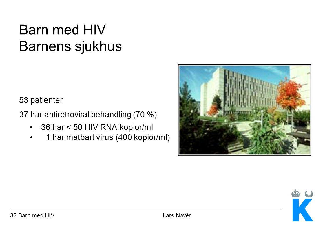 Barn med HIV Barnens sjukhus