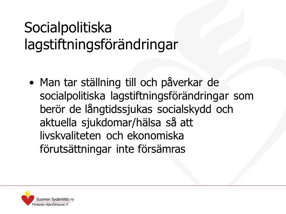 Socialpolitiska lagstiftningsförändringar