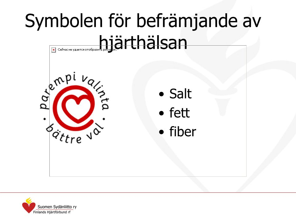 Symbolen för befrämjande av hjärthälsan