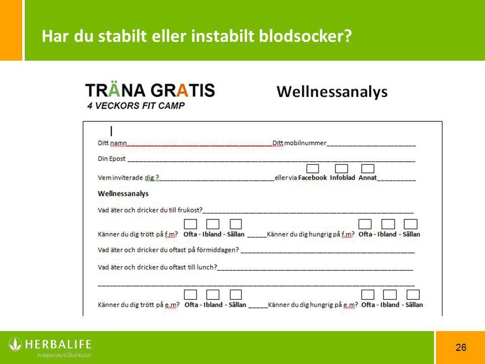Har du stabilt eller instabilt blodsocker