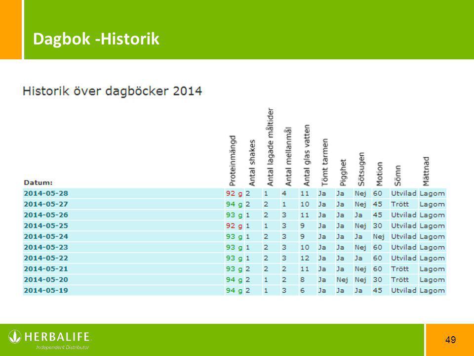 Dagbok -Historik