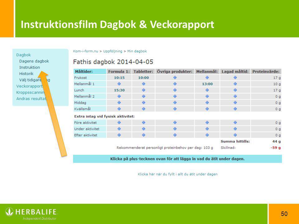 Instruktionsfilm Dagbok & Veckorapport