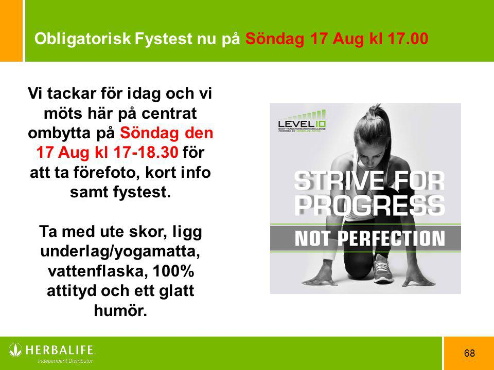Obligatorisk Fystest nu på Söndag 17 Aug kl 17.00