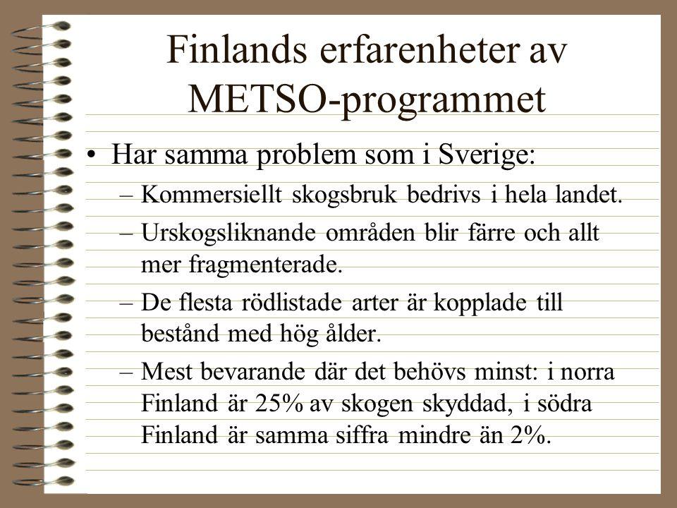 Finlands erfarenheter av METSO-programmet