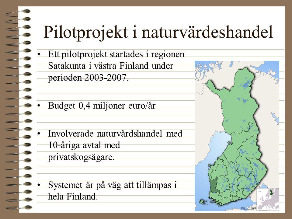 Pilotprojekt i naturvärdeshandel