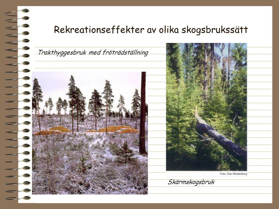 Rekreationseffekter av olika skogsbrukssätt