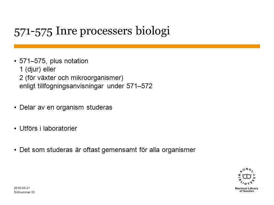 571-575 Inre processers biologi