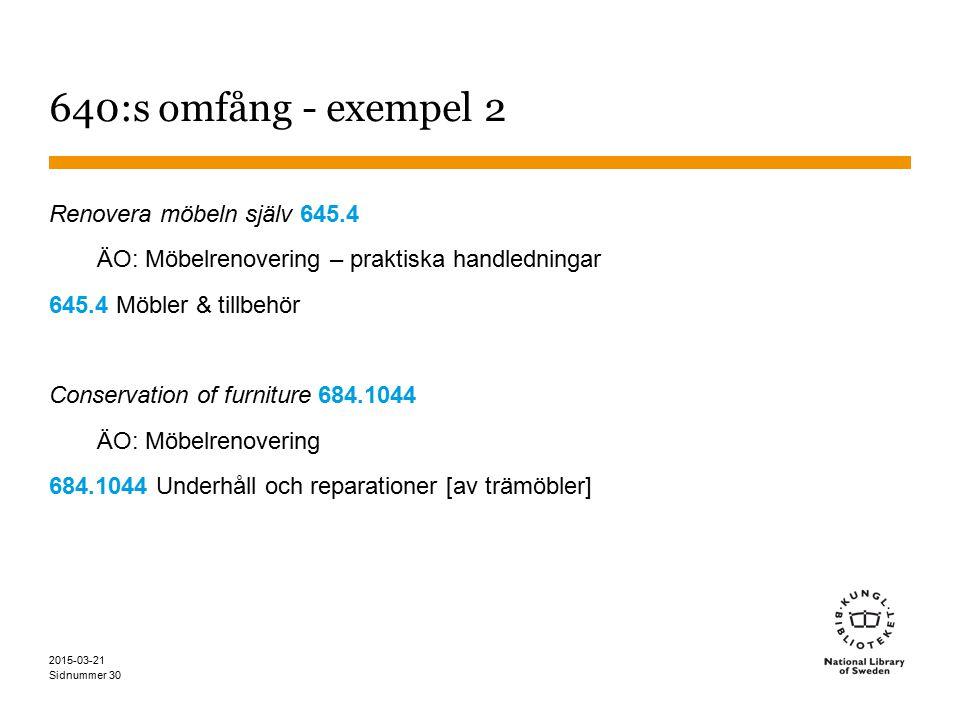 640:s omfång - exempel 2 Renovera möbeln själv 645.4