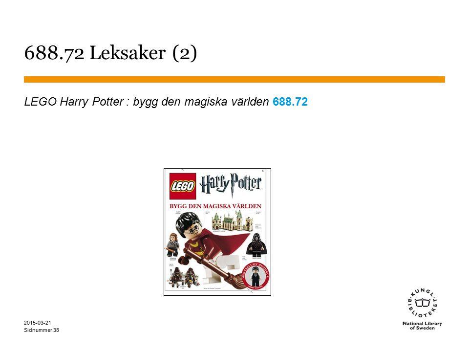 688.72 Leksaker (2) LEGO Harry Potter : bygg den magiska världen 688.72 2017-04-08