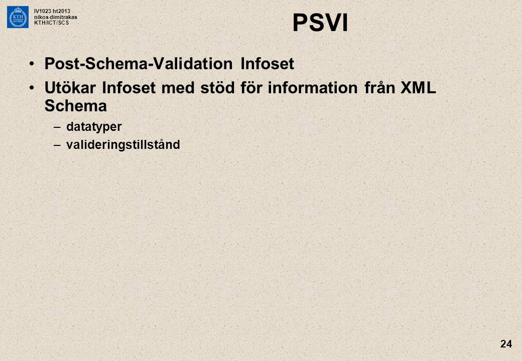 PSVI Post-Schema-Validation Infoset