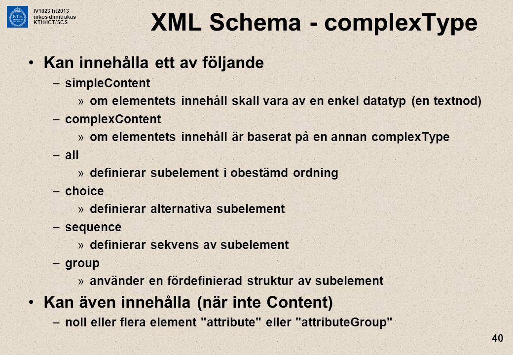 XML Schema - complexType