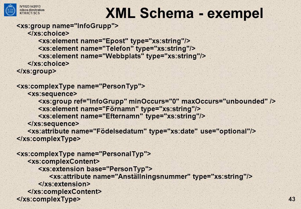 XML Schema - exempel