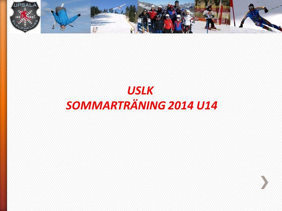 USLK SOMMARTRÄNING 2014 U14