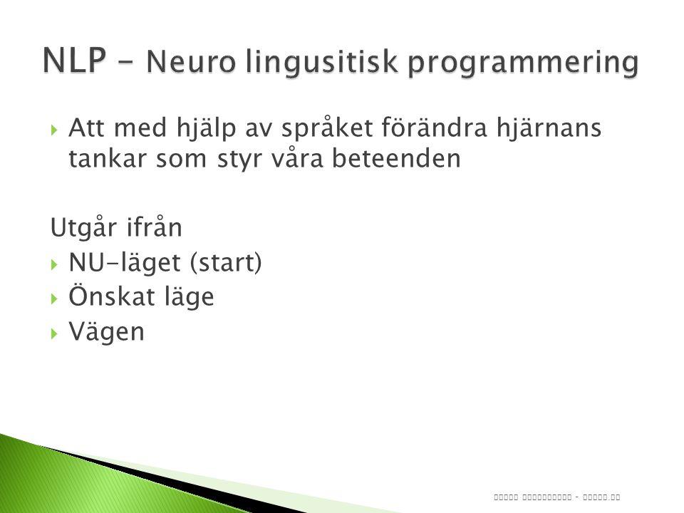 NLP – Neuro lingusitisk programmering