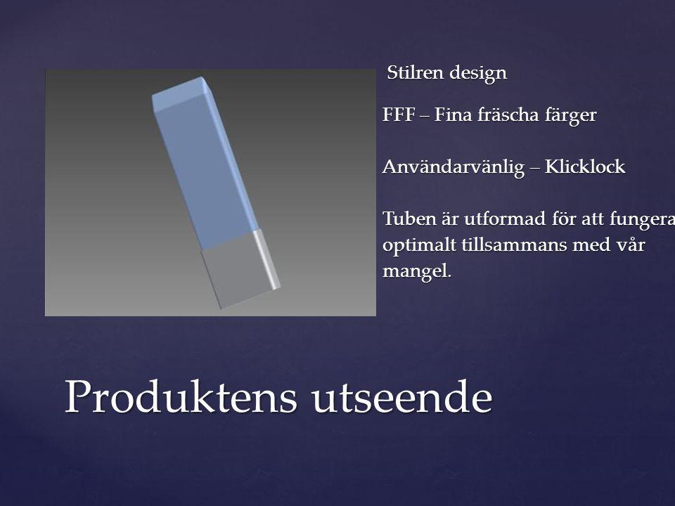 Stilren design FFF – Fina fräscha färger Användarvänlig – Klicklock Tuben är utformad för att fungera optimalt tillsammans med vår mangel.