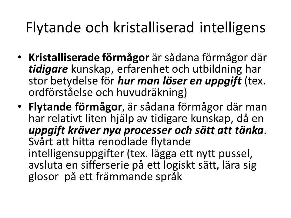 Flytande och kristalliserad intelligens
