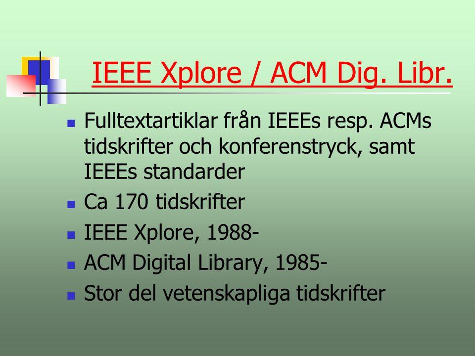 IEEE Xplore / ACM Dig. Libr.