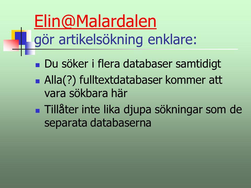 Elin@Malardalen gör artikelsökning enklare: