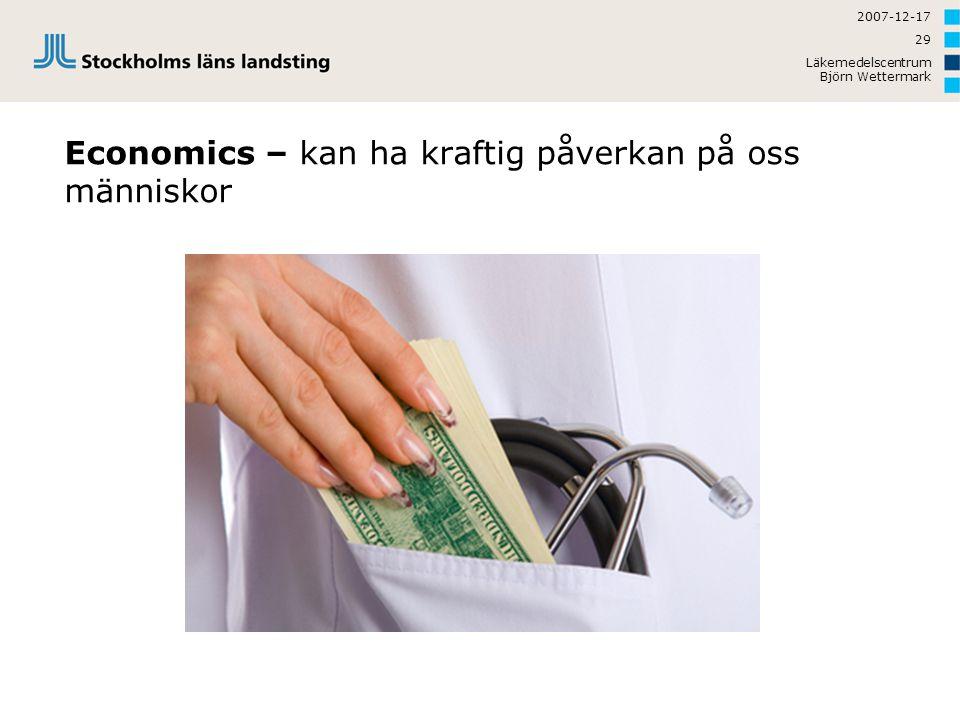 Economics – kan ha kraftig påverkan på oss människor