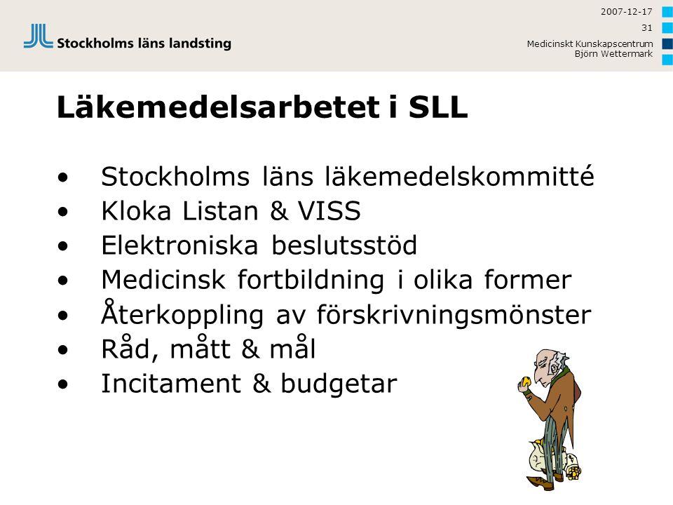 Läkemedelsarbetet i SLL