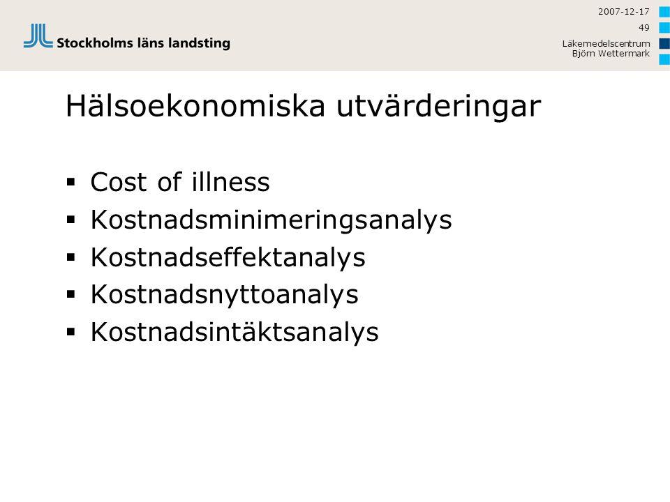 Hälsoekonomiska utvärderingar