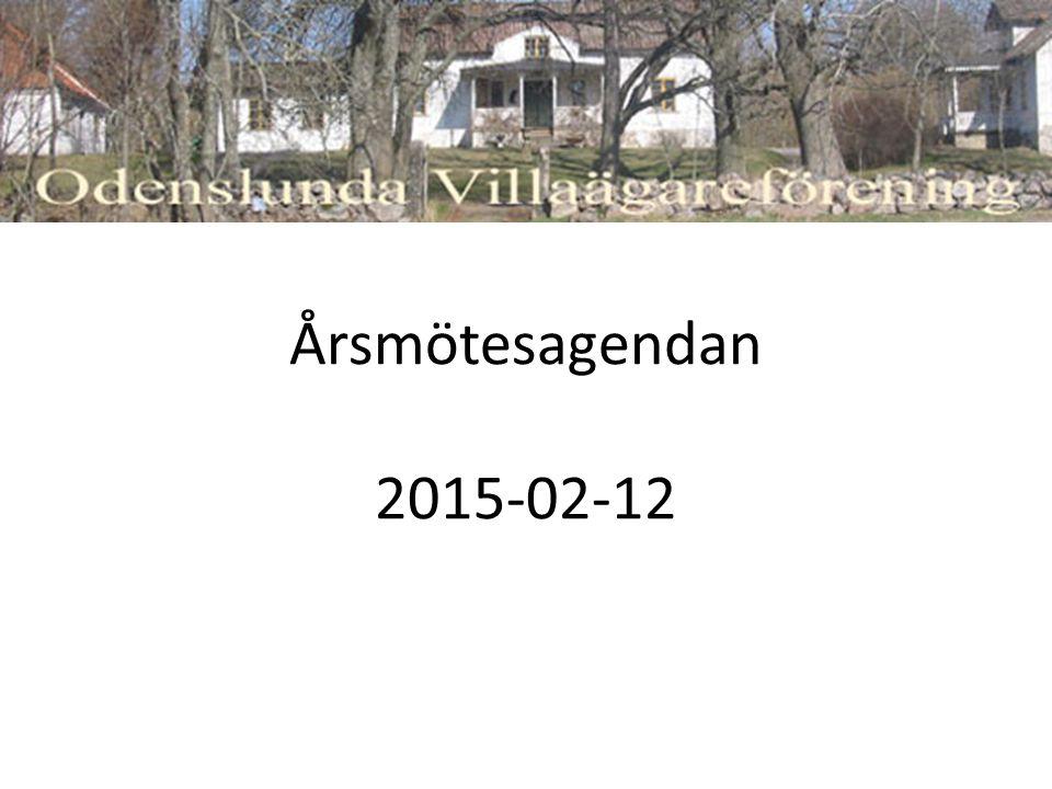 Årsmötesagendan 2015-02-12