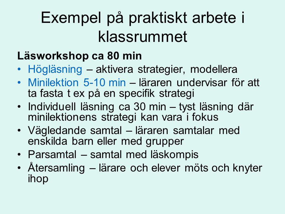 Exempel på praktiskt arbete i klassrummet