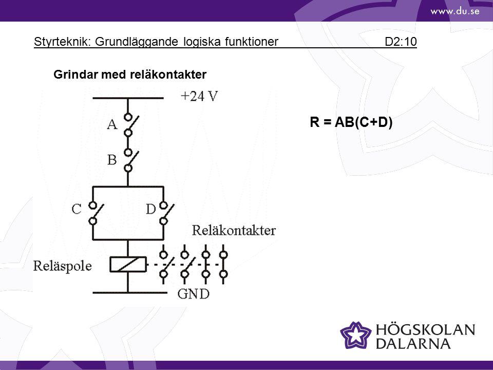 Styrteknik: Grundläggande logiska funktioner D2:10