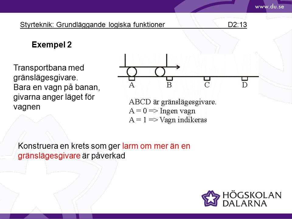 Styrteknik: Grundläggande logiska funktioner D2:13