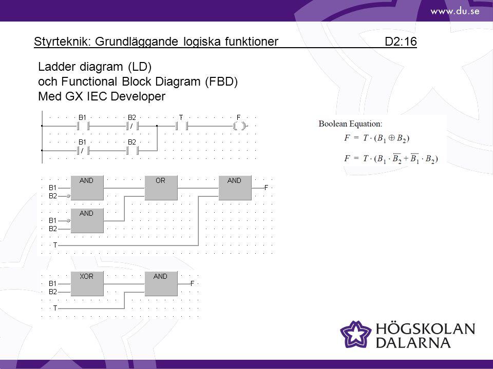 Styrteknik: Grundläggande logiska funktioner D2:16