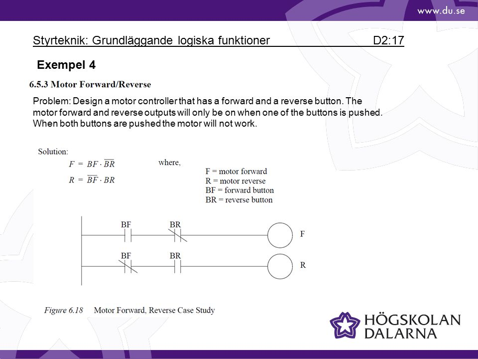 Styrteknik: Grundläggande logiska funktioner D2:17