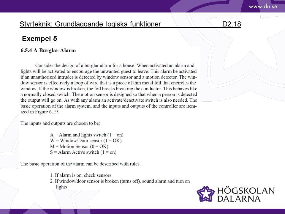 Styrteknik: Grundläggande logiska funktioner D2:18