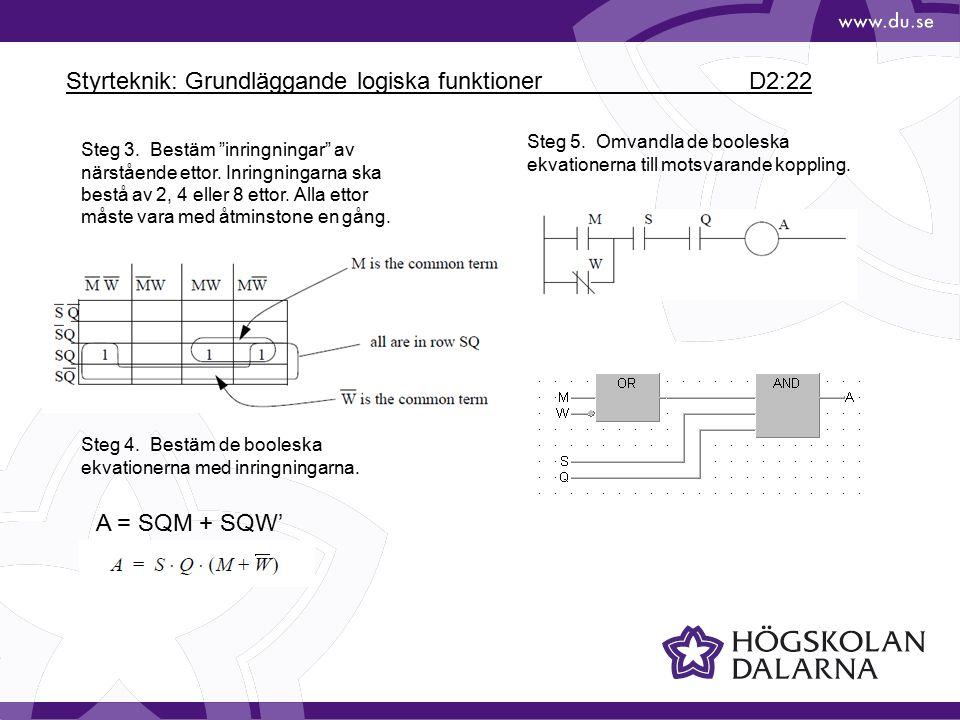 Styrteknik: Grundläggande logiska funktioner D2:22
