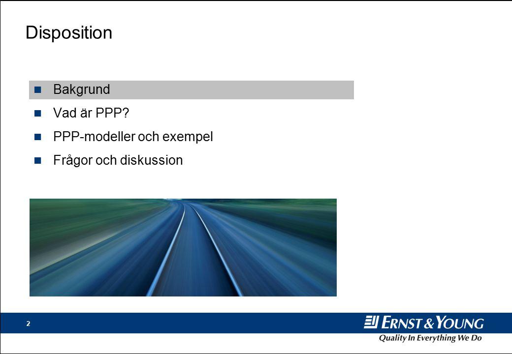 Disposition Bakgrund Vad är PPP PPP-modeller och exempel