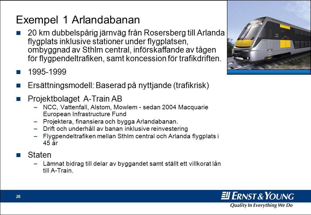 Exempel 1 Arlandabanan