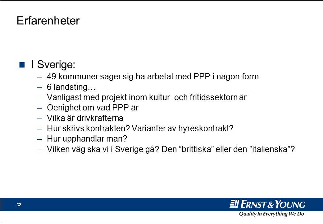 Erfarenheter I Sverige: