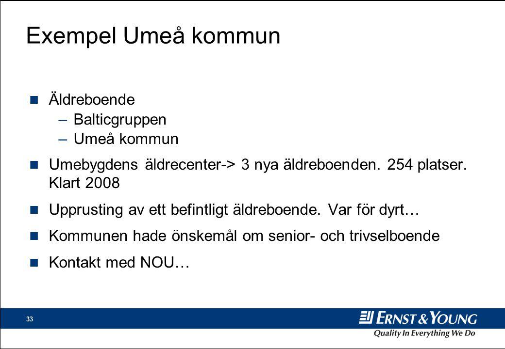 Exempel Umeå kommun Äldreboende Balticgruppen Umeå kommun