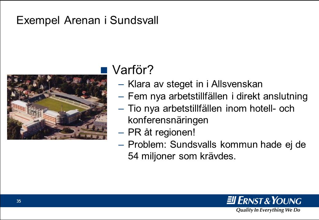 Exempel Arenan i Sundsvall