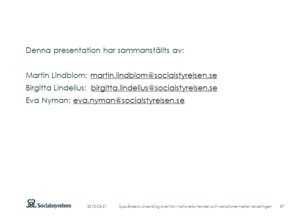 Denna presentation har sammanställts av: