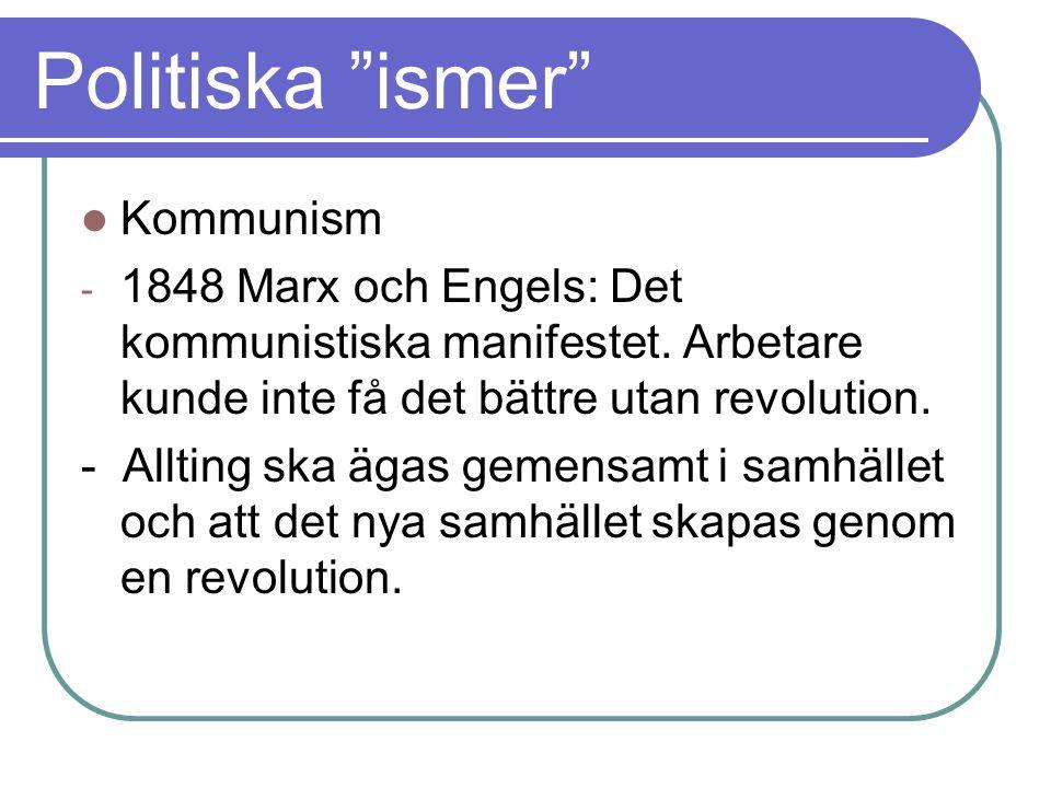 Politiska ismer Kommunism