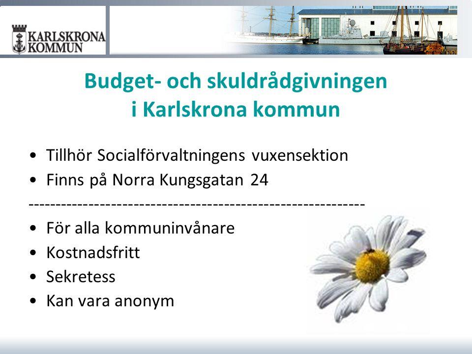 Budget- och skuldrådgivningen i Karlskrona kommun