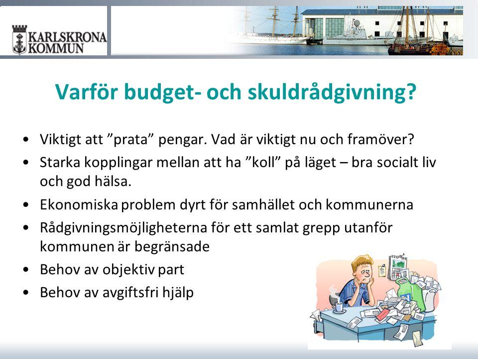 Varför budget- och skuldrådgivning