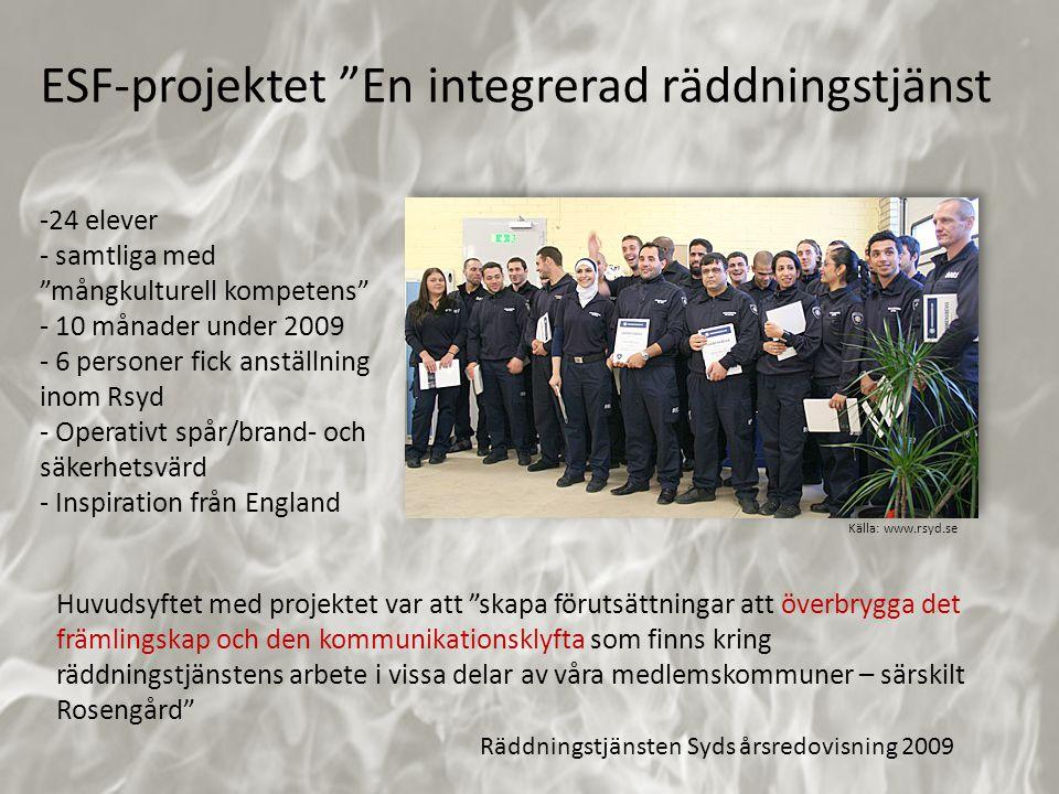 ESF-projektet En integrerad räddningstjänst