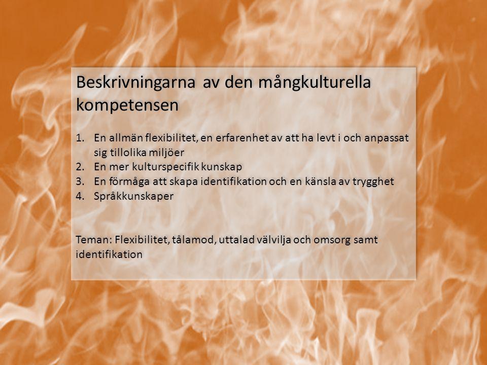 Beskrivningarna av den mångkulturella kompetensen
