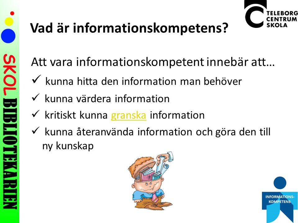 Vad är informationskompetens