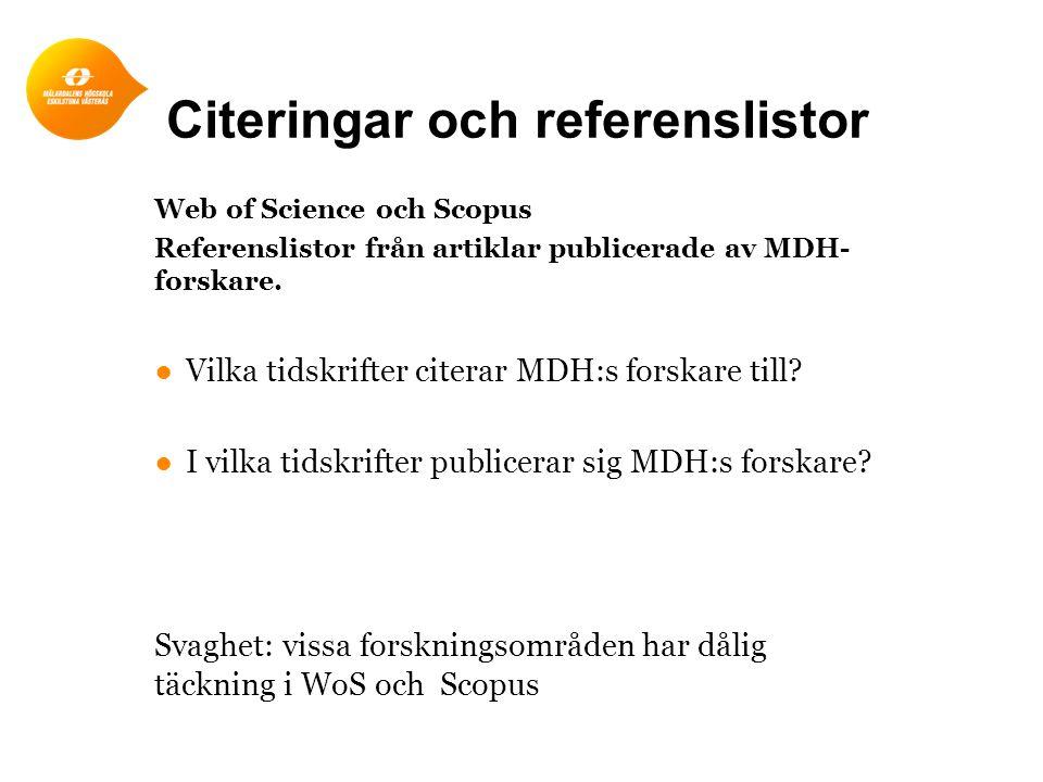 Citeringar och referenslistor