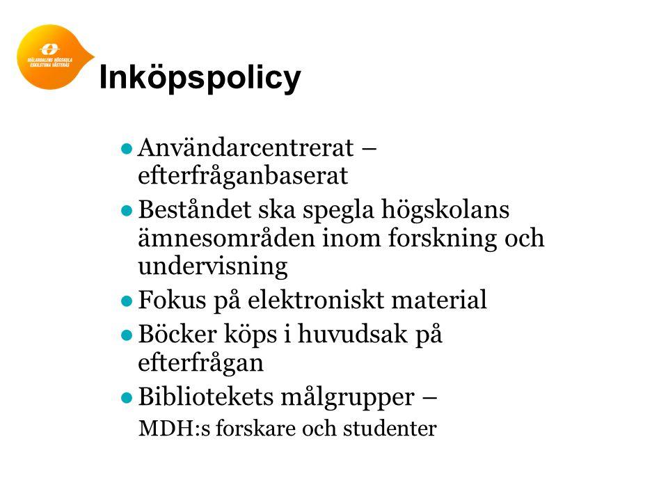 Inköpspolicy Användarcentrerat – efterfråganbaserat