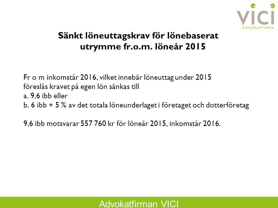 Sänkt löneuttagskrav för lönebaserat utrymme fr.o.m. löneår 2015