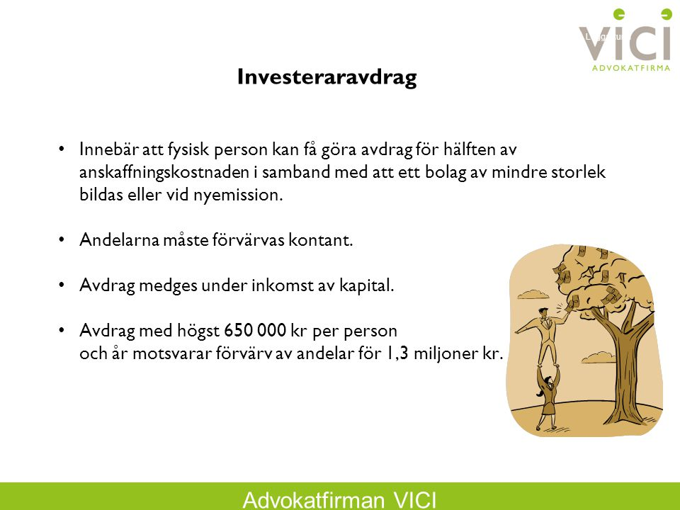 Logga kund Investeraravdrag.